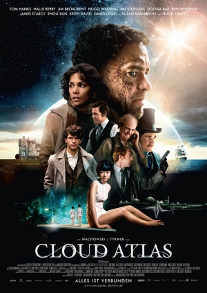 cloud atlas,david mitchell,andy wachowski,lana wachowski,tom tykwer,jim sturgess,ben whishaw,jim broadbent,tom hanks,halle berry,doona bae,hugh grant,susan sarandon,the master