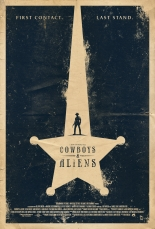 cowboys and aliens,poster
