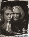 Elle Fanning Glenn Close tin type high quality picture