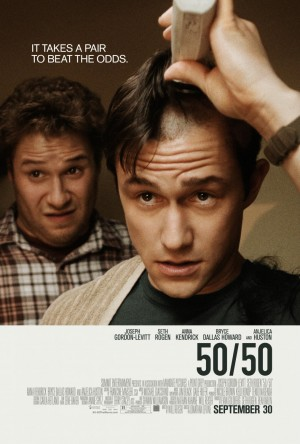 50-50,jonathan levine,seth rogen,joseph gordon-levitt,anna kendrick,the wackness,all the boys love mandy lane,bryce dallas howard,anjelica huston,jessica parker kennedy,beatrice king,marie avgeropoulos,julia benson,tot altijd,nic balthazar