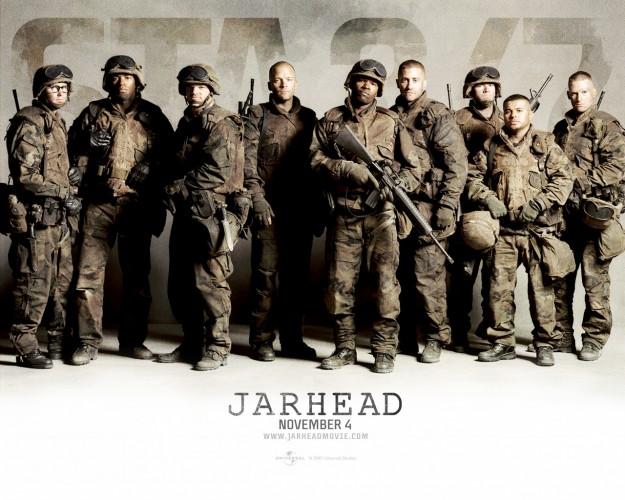 jarhead,2005,jake gyllenhaal,peter sarsgaard,brian geraghty,jamie foxx,chris cooper,dennis haysbert,sam mendes,thomas newman