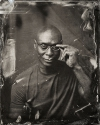 Lance Reddick tin type high quality picture