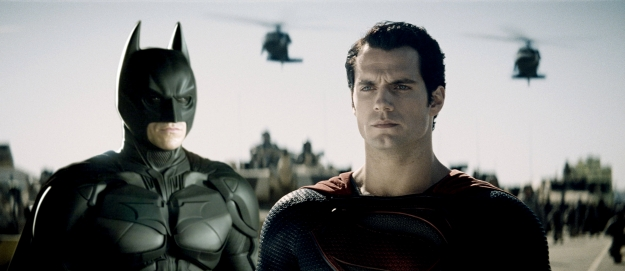 man of steel 2 picture with batman aka The Dark Knight