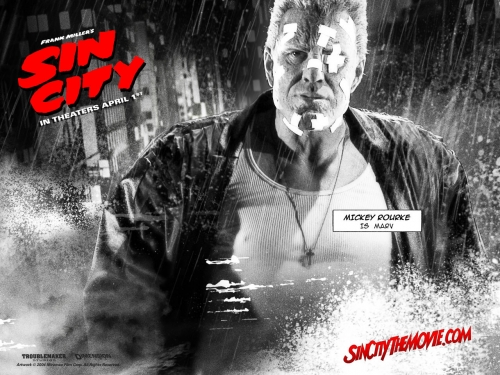 poster,comics,mickey rourke,sin city,brittany murphy